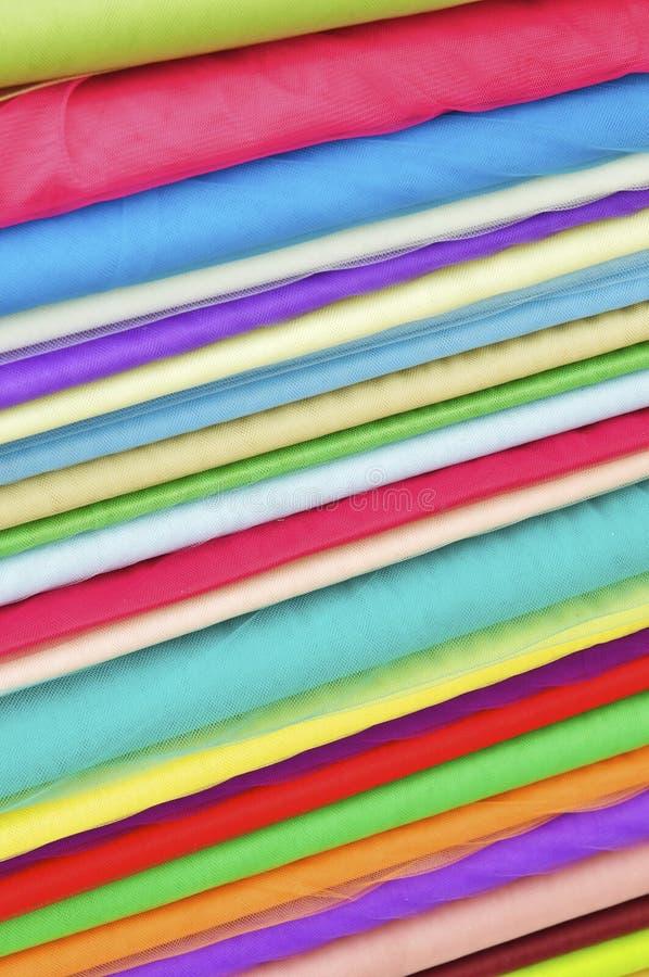 丝绸堆积了 免版税库存照片