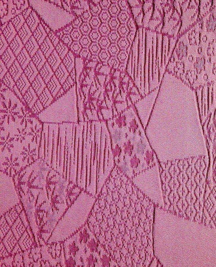 丝绸淡紫色和服背景 免版税库存照片