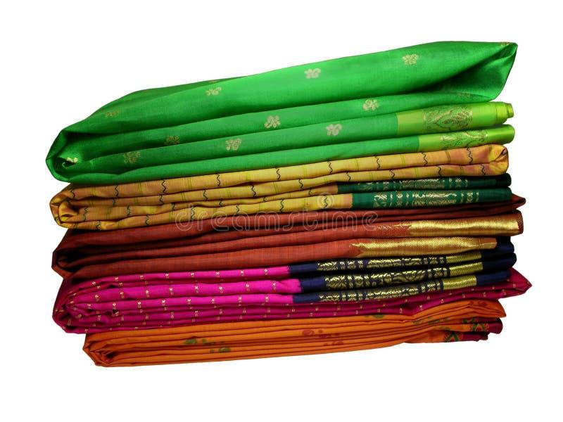 丝绸的莎丽服 免版税图库摄影