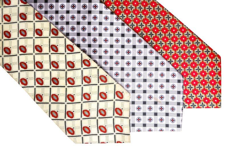丝绸的领带 图库摄影
