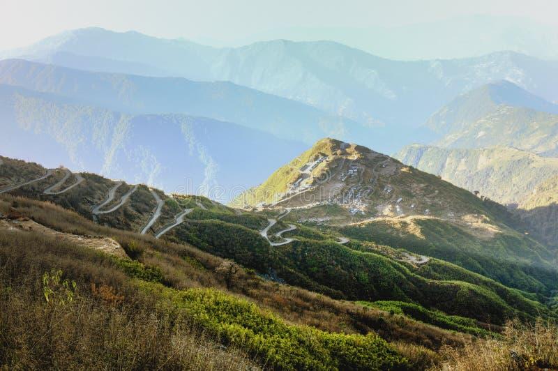 丝绸之路,锡金全景  图库摄影