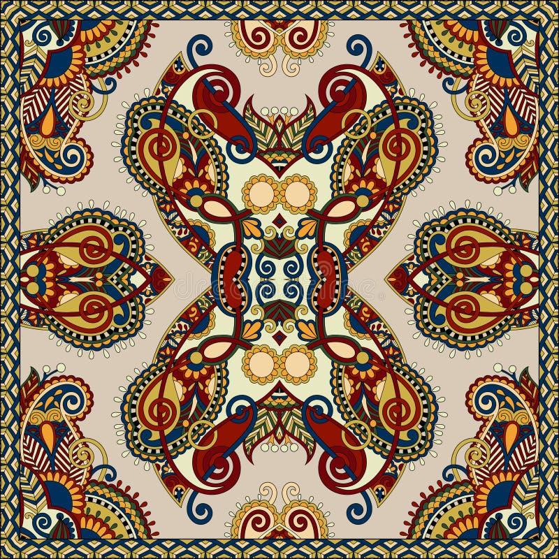 丝绸围巾或方巾方形的样式设计图片