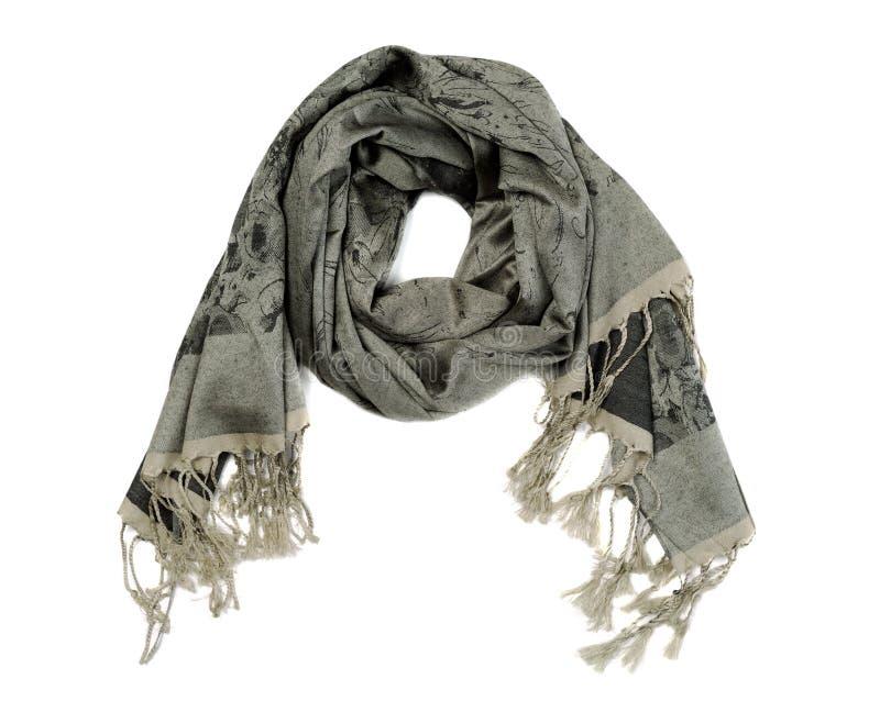 丝绸围巾,在白色背景的孤立 免版税库存照片