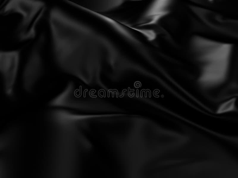 黑丝绸布料摘要背景 皇族释放例证