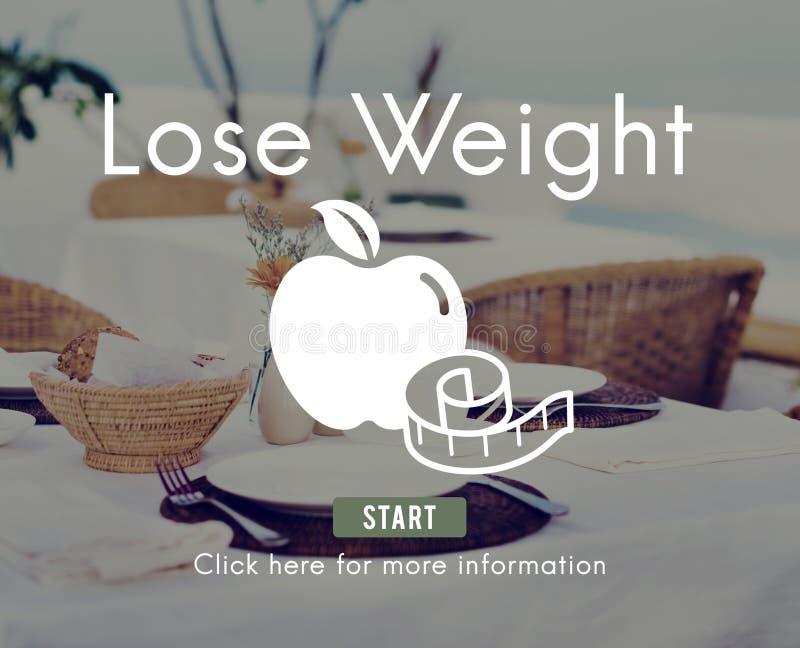 丢失重量平衡健身亭亭玉立的饮食营养概念 免版税图库摄影