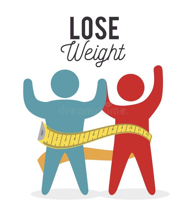 丢失重量设计 向量例证