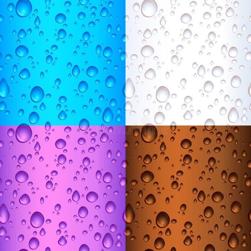 丢弃无缝的瓦片水 向量例证
