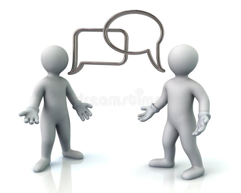 两个人谈论 库存例证