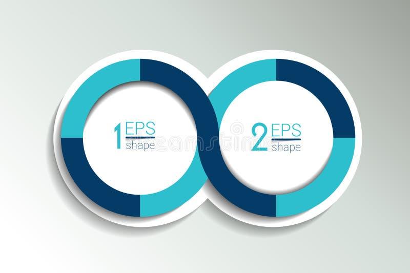 两个企业元素横幅,模板 2步设计,绘制, infographic,逐步的数字选择,布局 皇族释放例证