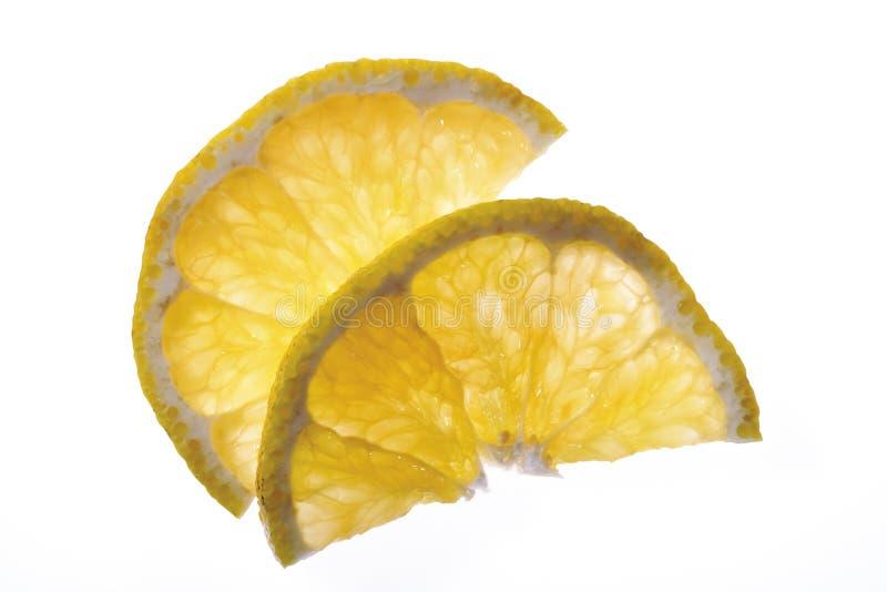 两个切片ugli (柑桔),高的看法,特写镜头 库存图片
