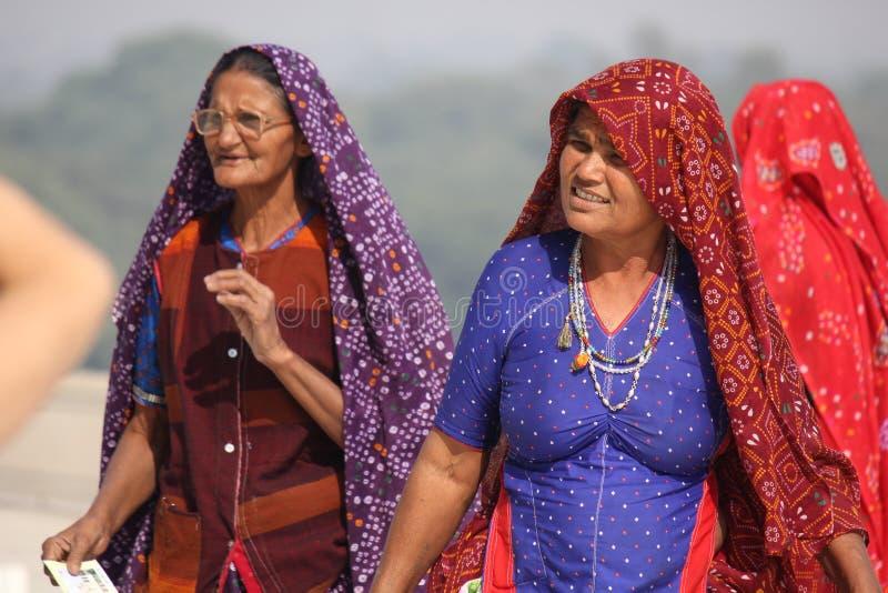 两个印地安人妇女 图库摄影