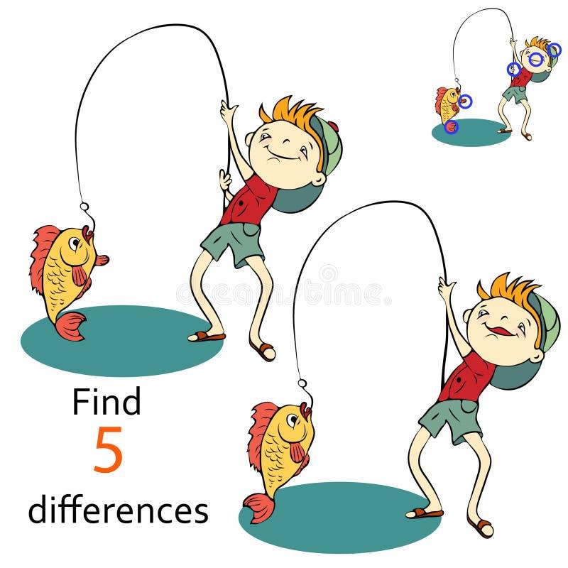 两个图象之间的发现区别 库存例证
