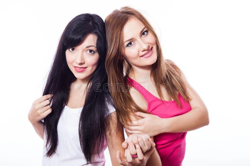 两个女孩。 免版税库存照片