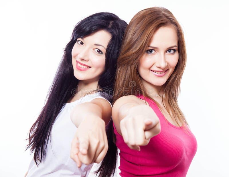 两个女孩。 免版税图库摄影