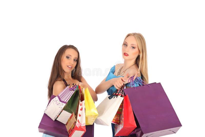 两个女孩喝精神对selebrate一个优秀选择 库存照片