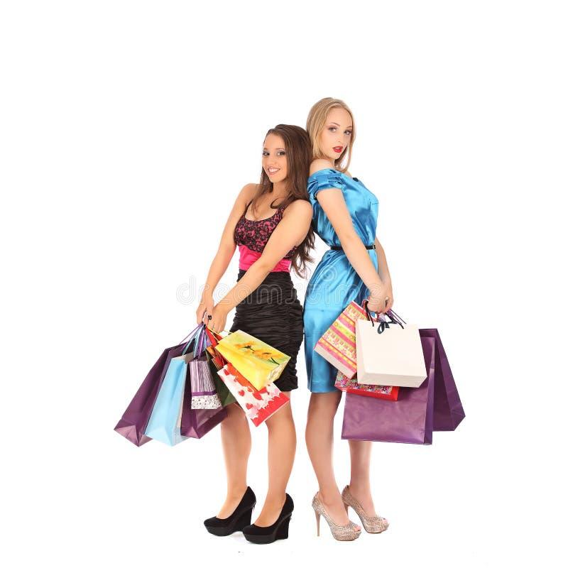 两个女孩喝精神对selebrate一个优秀选择 免版税库存图片