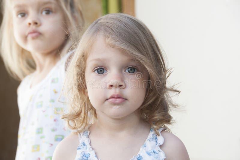 两个女孩画象  免版税图库摄影