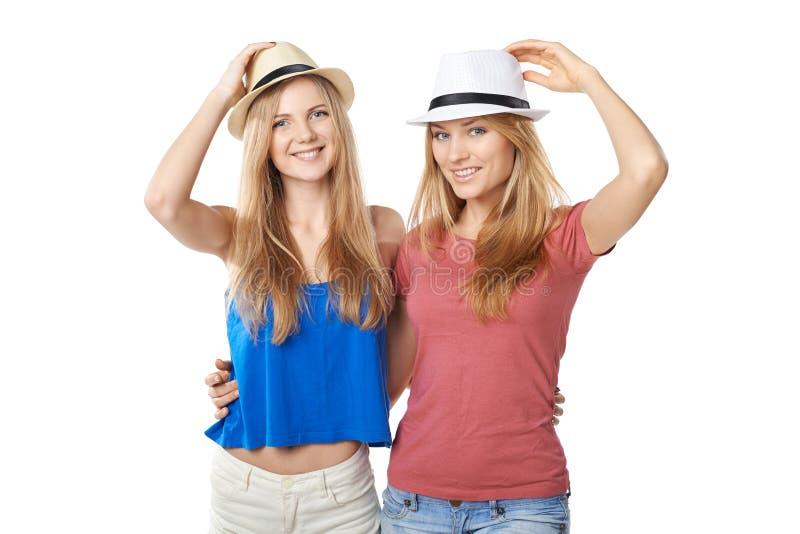 两个女朋友 库存图片