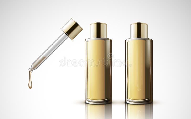 两个小滴瓶 向量例证