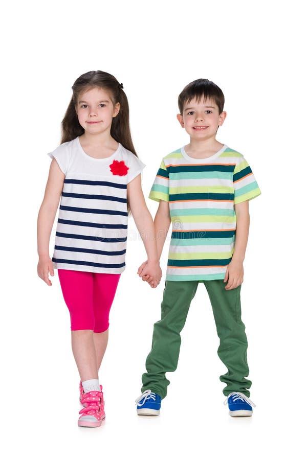 两个时尚孩子 免版税库存图片
