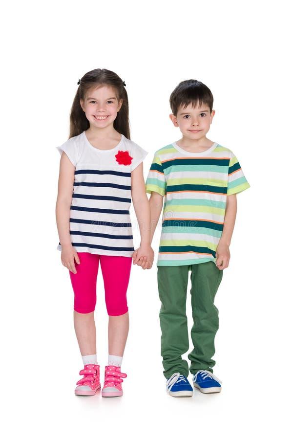 两个时尚孩子 免版税库存照片