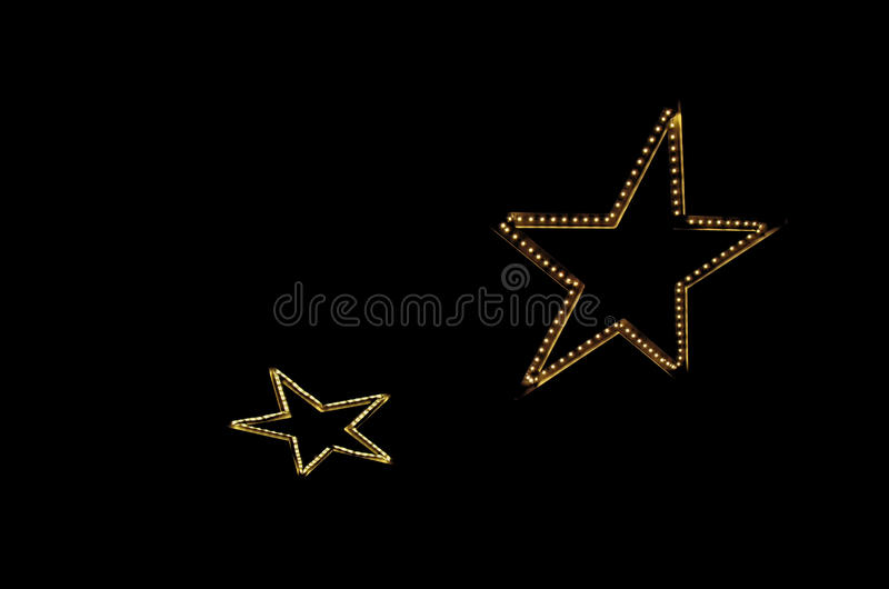 两个明亮的电星 免版税库存图片