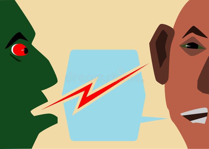 两个朋友之间的通信和是更加亲切的 向量例证