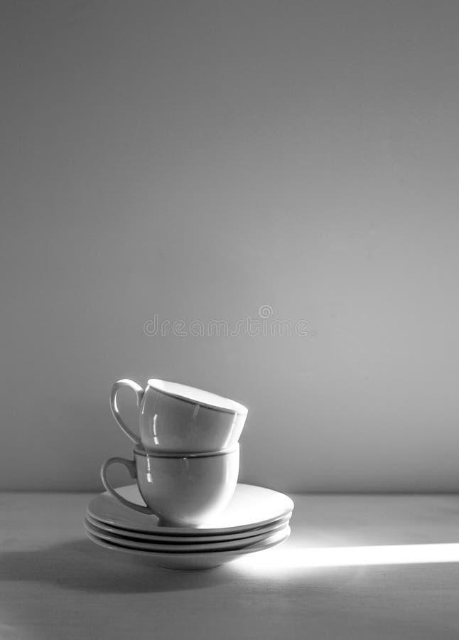 两个杯子葡萄酒照片咖啡的 库存照片