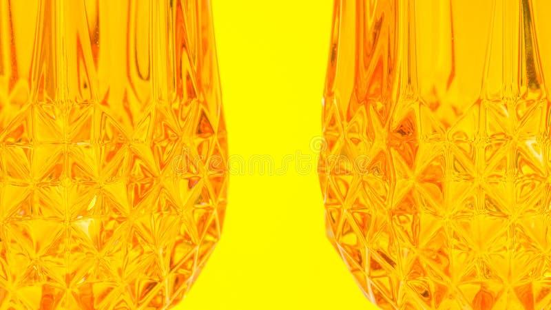 两个桔子玻璃 免版税库存图片