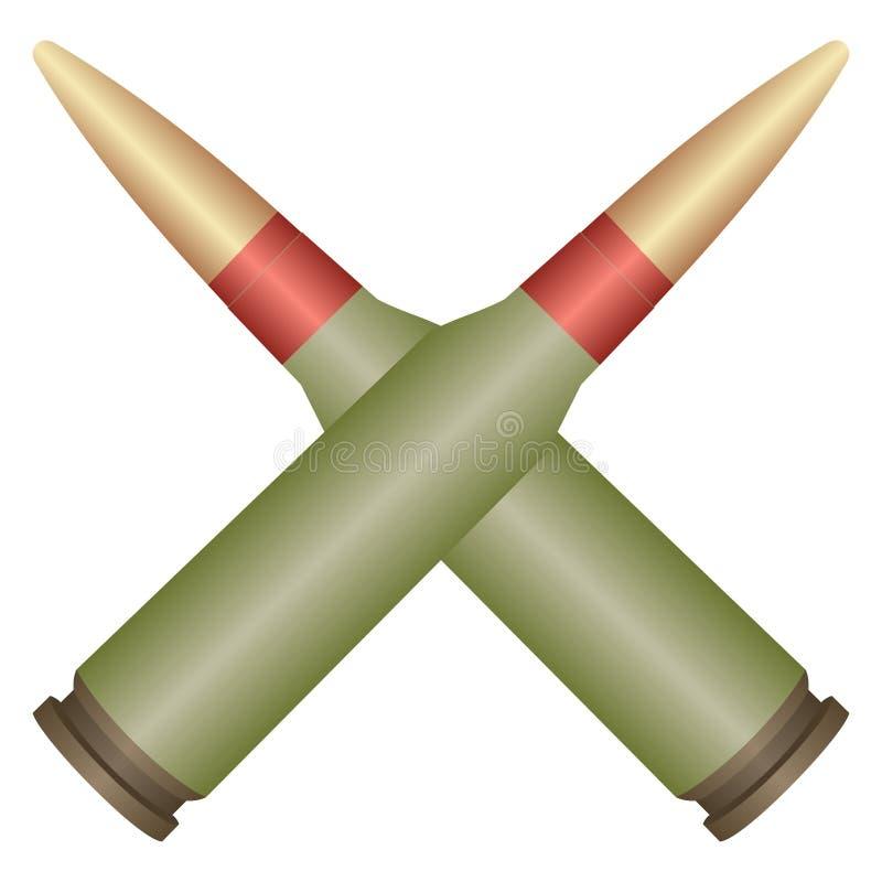 两个武器弹药筒 向量例证