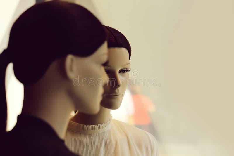 两个母时装模特 免版税库存图片