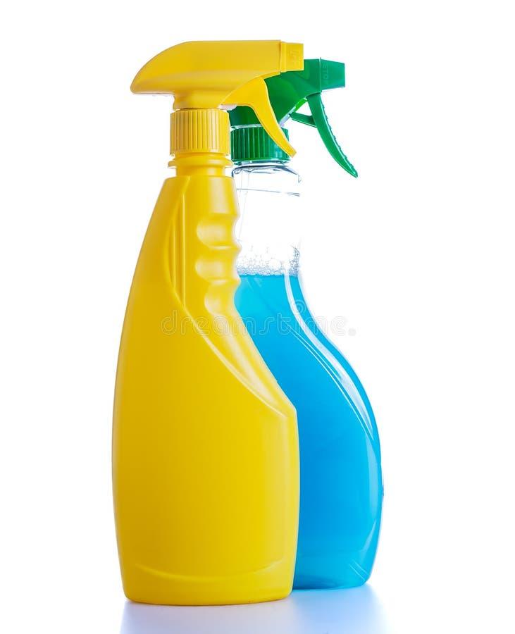 两个清洗的浪花瓶 免版税库存照片