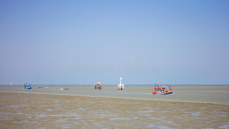 两个渔船 图库摄影