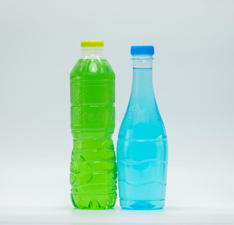 两个现代设计瓶软饮料 免版税库存照片