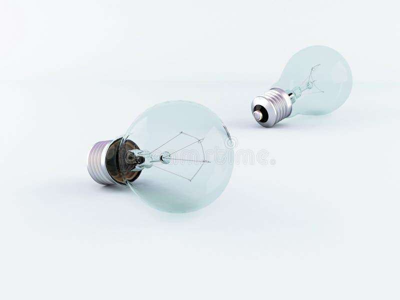 两个电灯泡 库存图片