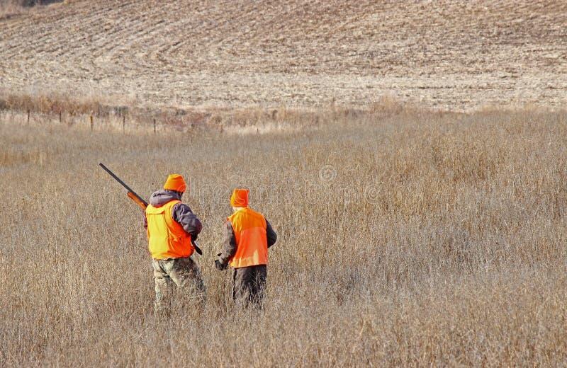 两个男孩寻找 免版税库存图片