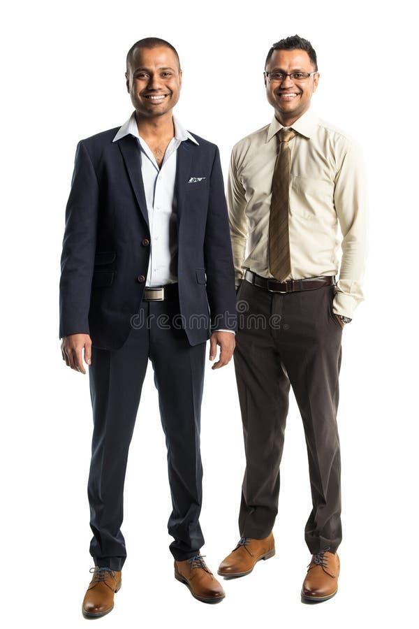 两个英俊的非裔美国人的商人 库存照片