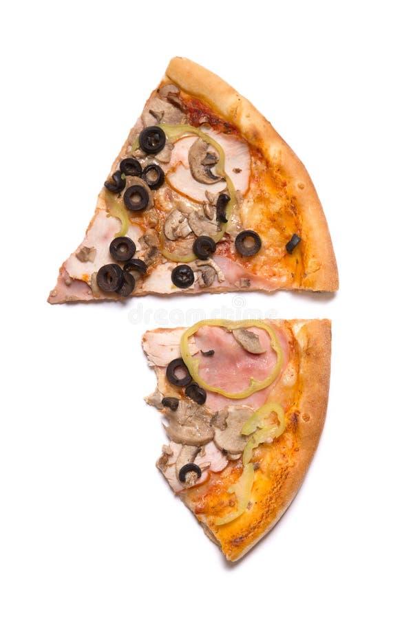 两个薄饼切片顶视图  免版税库存图片