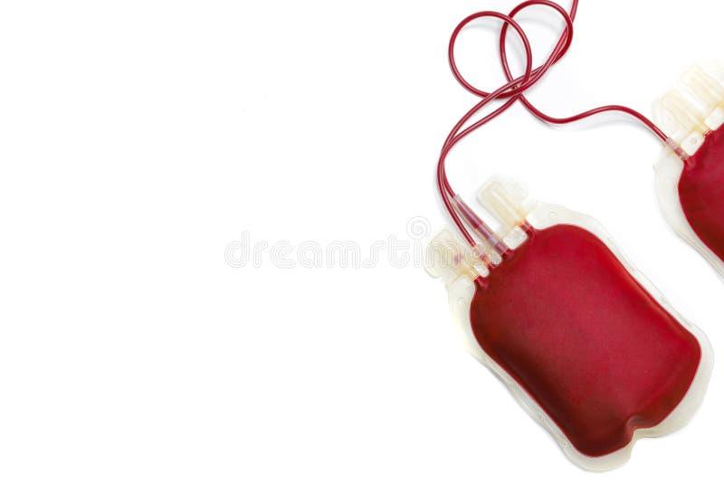 两个血液袋子 免版税库存图片