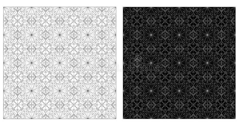 两个装饰样式 向量例证