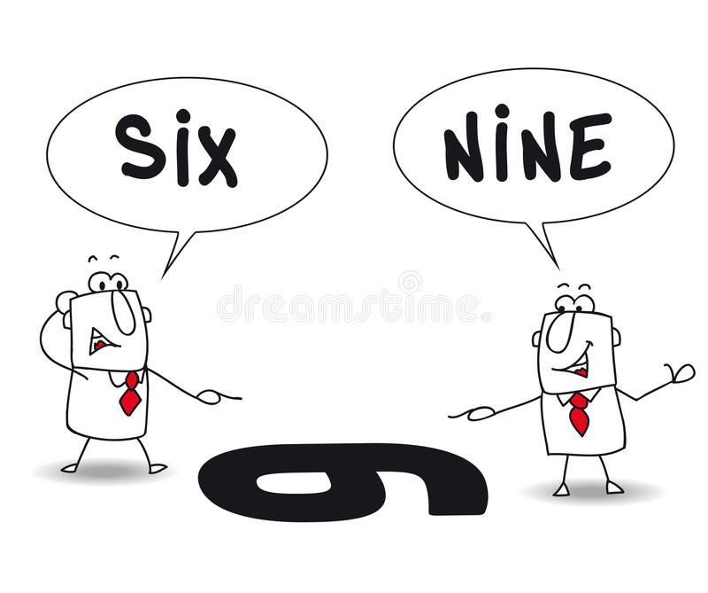 两个观点 库存例证