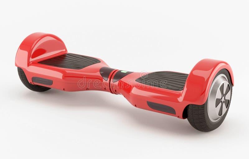 两个轮子电自平衡的滑行车 红色 皇族释放例证