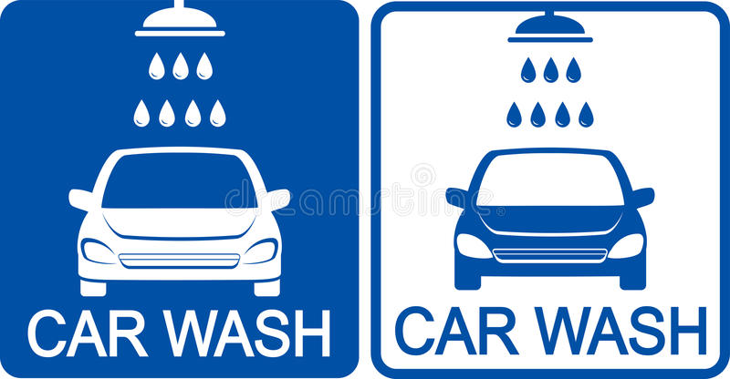 两个洗车象 库存例证
