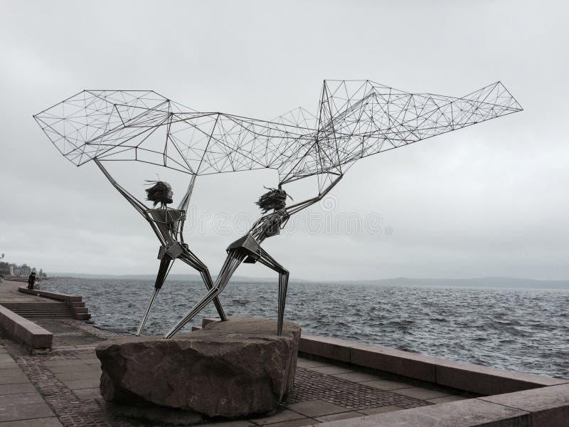两位渔夫纪念碑 库存照片