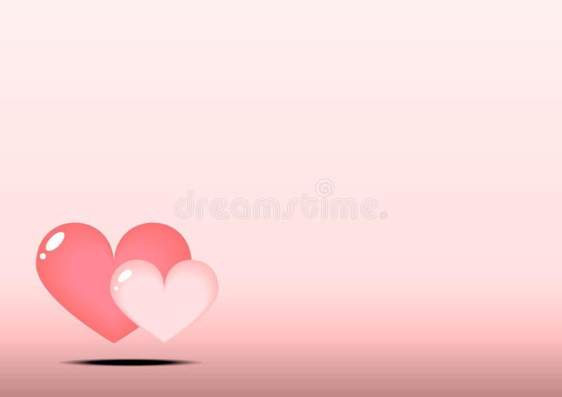 两作为背景的心脏 免版税库存图片