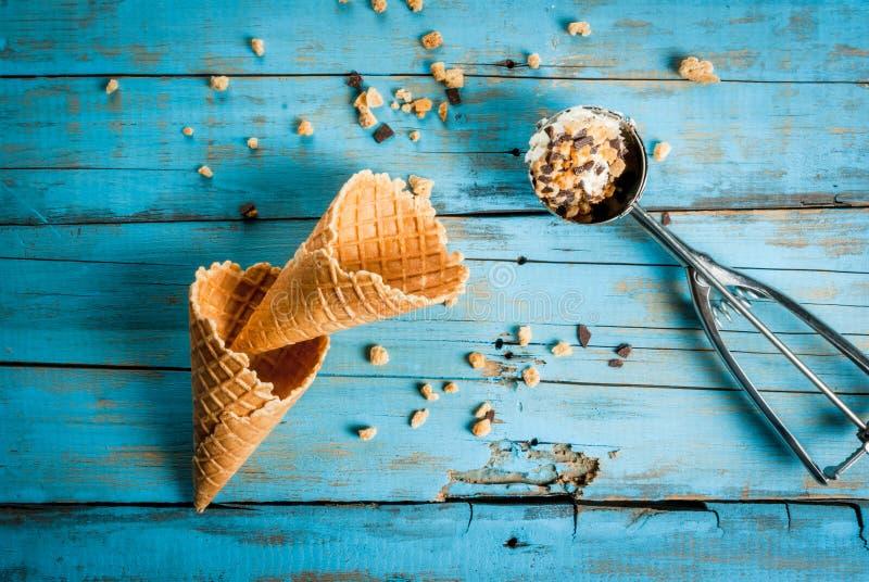 两冰淇凌 免版税图库摄影