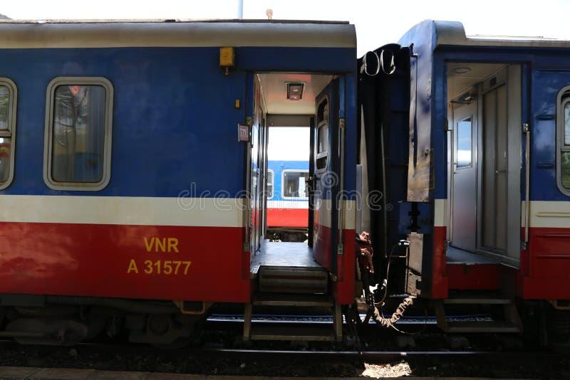两列火车之间的空白是哀伤的 库存图片