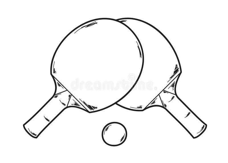 两副乒乓球球拍 库存例证