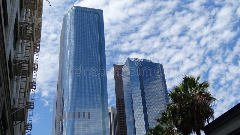 两加利福尼亚广场在街市洛杉矶,美国 库存图片
