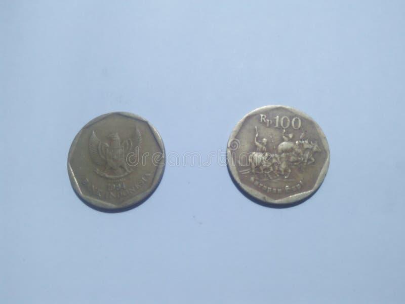 两卢比硬币 免版税库存图片